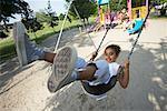 Girls on Swing