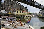 Paysage urbain et Canal, Amsterdam, Hollande