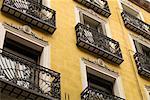 Balconies, Chueca, Madrid, Spain