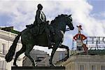 King Carlos III Statue, Puerta del Sol Plaza, Madrid, Spain