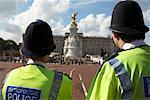 Policemen Outside Buckingham Palace, London, England