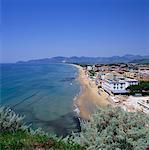 Overview of Sperlonga, Italy