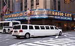 SUV Limousine Outside Radio City Music Hall, New York City, New York, USA