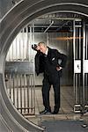 Man in Bank Vault