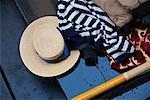 Chapeau de gondolier, Venise, Italie
