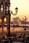 Cruise Ship, St Mark's Square, Venice, Italy