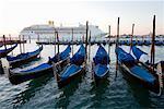 Cruise Ship and Gondolas, Canal, Venice, Italy