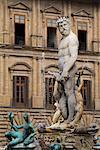Neptune's Fountain, Piazza Della Signoria, Florence, Tuscany, Italy