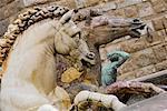 Detail, Neptune's Fountain, Piazza Della Signoria, Florence, Tuscany, Italy