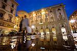 Couple in Piazza della Republica, Florence, Italy