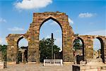 Iron pillar in the courtyard of a monument, Qutab Minar, New Delhi, India