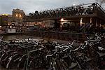 Vélos garés, Amsterdam, Pays-Bas