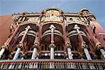 Fassade des Palau De La Musica Catalana, Barcelona, Spanien