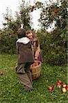 Children in Apple Orchard