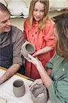 Family in Pottery Studio