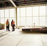 Construction Workers in Building, Toronto, Ontario, Canada