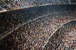 Specators bei Nou Camp Stadium, Barcelona, Spanien