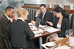 Businesspeople in Restaurant