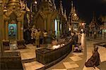 People Praying at Shwedagon Pagoda, Yangon, Myanmar