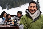 Family at Ski Resort, Whistler, British Columbia, Canada