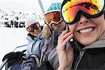 Women on Ski Lift, Whistler, BC, Canada