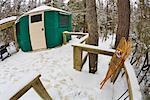 Camping am Killarney Provincial Park, Ontario, Kanada
