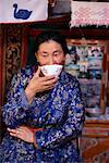 Portrait of Woman Drinking