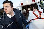 Paramedic Transporting Patient