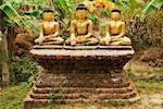 Statues de Bouddha, Mrauk U, Myanmar