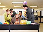Businesspeople Celebrating Birthday