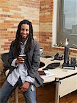 Portrait d'homme d'affaires au bureau