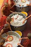 Monks Eating Rice, Amarapura, Myanmar