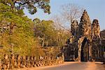 Porte sud d'Angkor Thom, Siem Reap, Cambodge