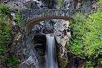 Christine Falls and Bridge, Mount Rainier National Park, Washington, USA