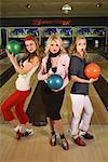 Portrait of Women Bowling
