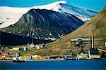 Boats docked at harbor, Spitsbergen, Svalbard Islands, Norway