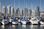 Boats in Marina, False Creek, Vancouver, British Columbia, Canada