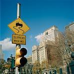 Road Sign, New York City, New York, USA
