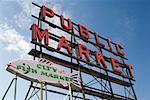 Public Market Sign, Seattle, Washington, USA