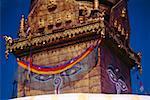 Gros plan d'un temple, le Temple aux singes, Katmandou, Népal