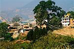 Temple dans une ville, le Temple aux singes, Katmandou, Népal