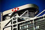 Low angle view of a bank building Hong Kong And Shanghai Bank, Hong Kong, China
