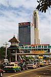 Traffic jam on the road, Bangkok, Thailand