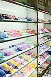 Racks of shoes