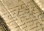 Lettre antique, extrême-gros plan