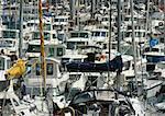 Boats in marina, full frame