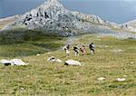 Spain, Catalonia, hikers