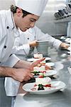 Chef Preparing Dessert