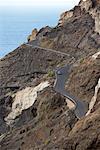 Route du côté de la colline, La Gomera, Iles Canaries, Espagne