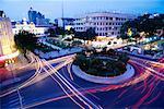 Traffic Circle at Dusk, Ho Chi Minh City, Vietnam
